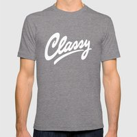 Classy Mens Fitted Tee Tri-Grey SMALL