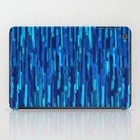 vertical brush blue version iPad Case