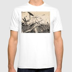 DRESSED GRAIN SMALL White Mens Fitted Tee