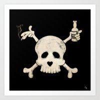 Cigarettes & Alcohol  Art Print