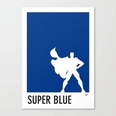 My Superhero 03 SuperBlue Minimal poster Canvas Print
