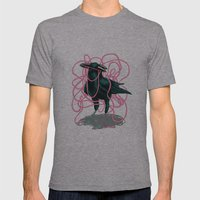 Crow Mens Fitted Tee Athletic Grey SMALL