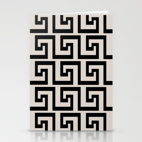 Greek Key Stationery Card