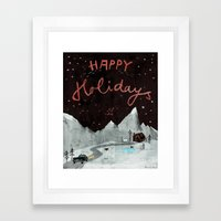 Happy Holidays Framed Art Print
