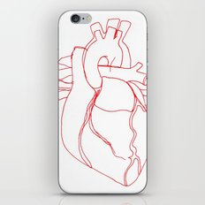 Anatomical heart iPhone & iPod Skin