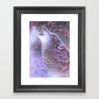 Howling Framed Art Print