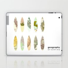Geography of surfing Laptop & iPad Skin