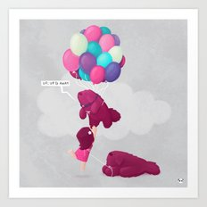 Up, Up & Away Art Print
