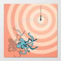 Singing Octopus Canvas Print