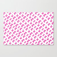Gamer  - Pink On White Canvas Print