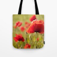 Tote Bag featuring Romantic Poppy-lady by UtArt