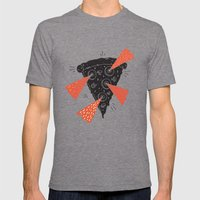 Lazer Pizza Mens Fitted Tee Tri-Grey SMALL