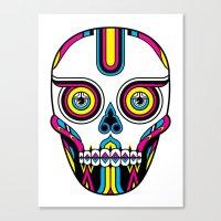 CMYK Skull Canvas Print