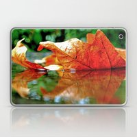 Autumn leaf reflected Laptop & iPad Skin