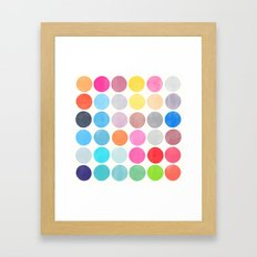 colorplay 9 Framed Art Print