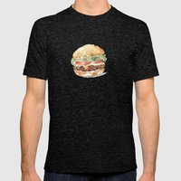 A burger Mens Fitted Tee Tri-Black SMALL