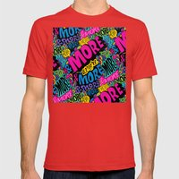 More & More & More Mens Fitted Tee Red SMALL