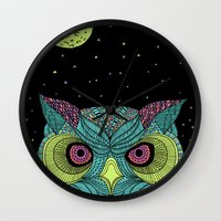 The Mystique Owl Wall Clock