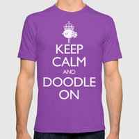 Keep Calm & Doodle On (R… Mens Fitted Tee Ultraviolet SMALL