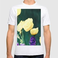 Spring Blooms Mens Fitted Tee Ash Grey SMALL