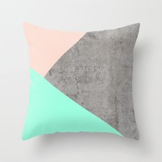 Concrete Collage Throw Pillow