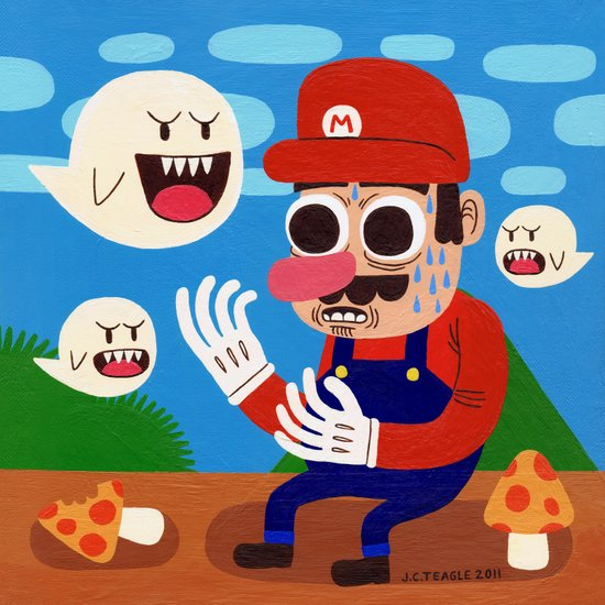 Tripping in the Mushroom Kingdom Art Print