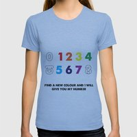Find a new colour and I'll give you my number Womens Fitted Tee Athletic Blue SMALL