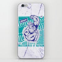 Mayhem Ape (Teal On Gun … iPhone & iPod Skin