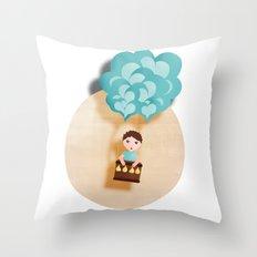 Flotando con mi imaginación Throw Pillow