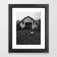 Farm Dog Two Framed Art Print