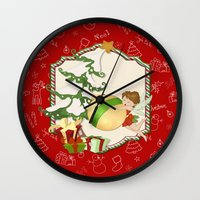 Fairy Merry Christmas Wall Clock