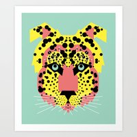 Modular Cheetah Art Print