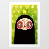 King Skull Guy Art Print