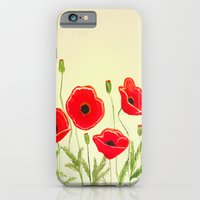 Watercolor Poppies iPhone 6 Slim Case