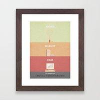 The Royal Tenenbaums - minimal poster Framed Art Print