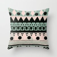 PASTEL NORDIC TRIBAL  Throw Pillow