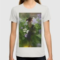 Flower Fairies Womens Fitted Tee Silver SMALL