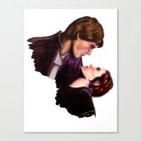 Star Wars, Han & Leia The Empire Strikes Back Canvas Print
