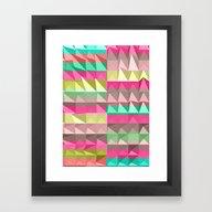 Framed Art Print featuring Pyramid Scheme by Jacqueline Maldonado