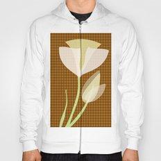 Modern Poppy Flower Hoody