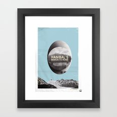 Hanibal's march to rome - http://matthewbillington.com Framed Art Print