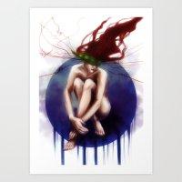 Nervous Art Print