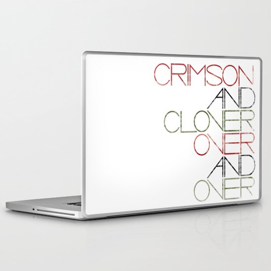 Crimson and Clover Over and Over Laptop & iPad Skin
