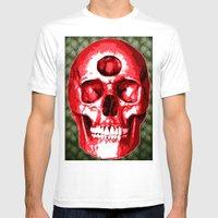 Third Eye Bones (Paisley… Mens Fitted Tee White SMALL