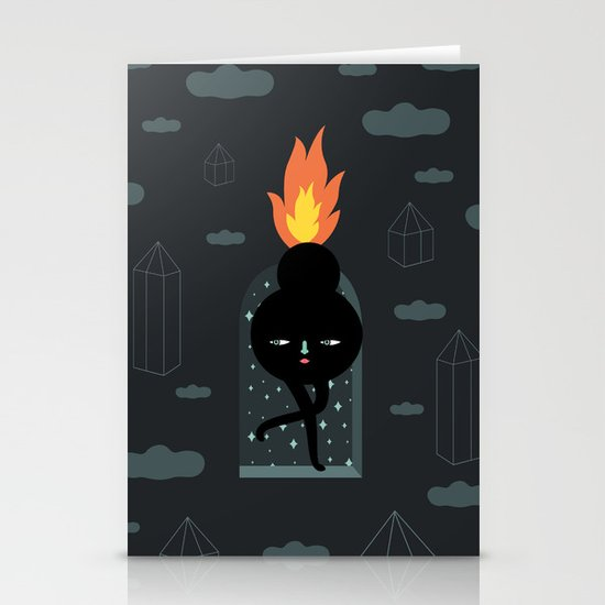 Mimu & The Fireboy Stationery Card