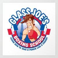 Glass Joe's Boxing School Art Print