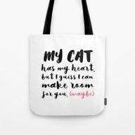 My Cat Has My Heart - Pi… Tote Bag