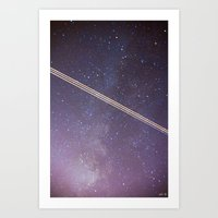 Boeing Through The Milky… Art Print