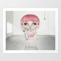Loneliness Is The Hardes… Art Print