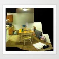 Dining Room At James Poi… Art Print